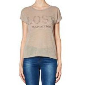 Lost is a place too Graphic print top